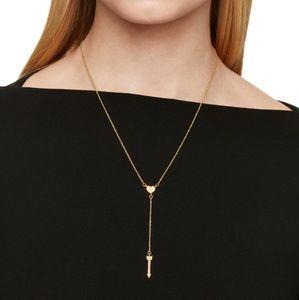 Kate Spade Love List Heart Arrow Dainty Necklace